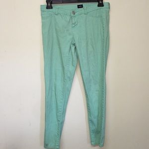 Mint colored jeggings